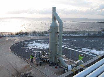 Air scrubbers and activated carbon towers